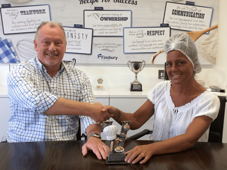 Sue Jones Employee of the Month July Finsbury Food Group