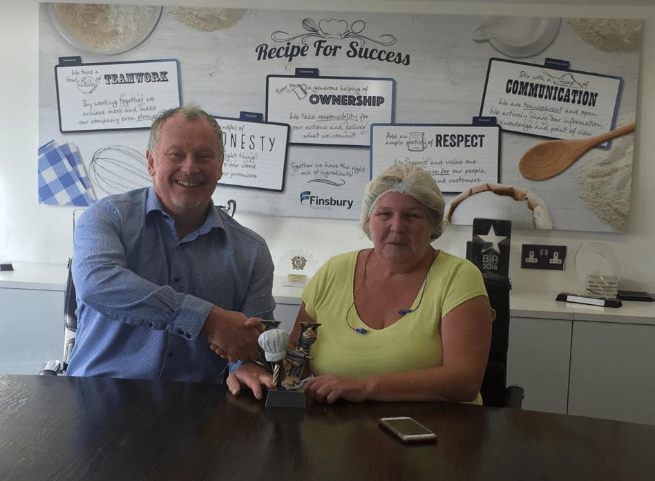 Jayne Harris Finsbury Food Group Employee of the Month
